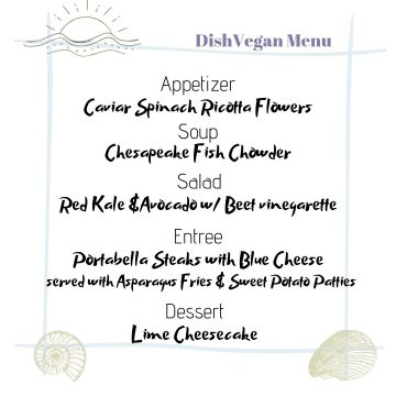 Coastal Inspiration Menu