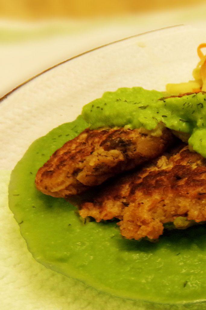 Vibrant Green Pea Puree